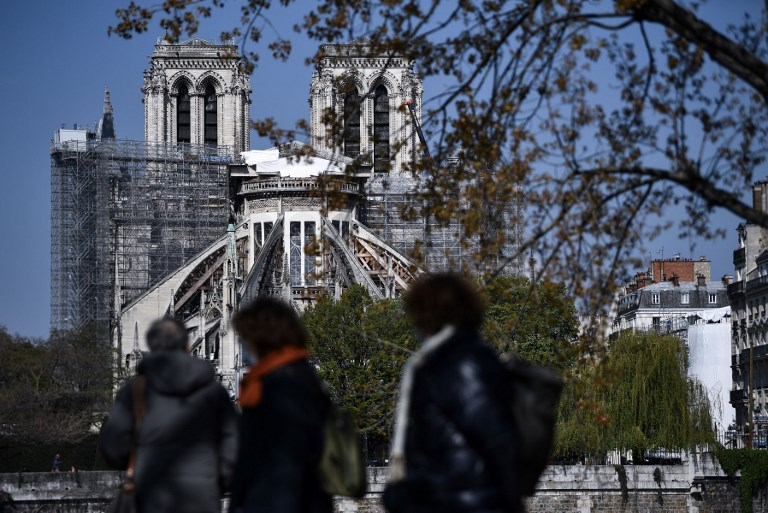 FRANCE - FIRE - NOTRE DAME - ANNIVERSARY